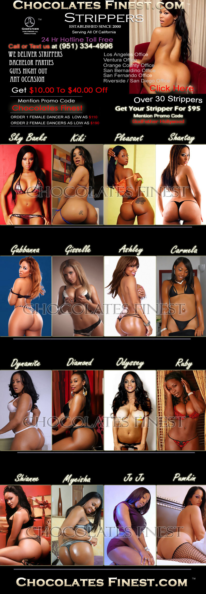 Black Female Exotic Dancers Here