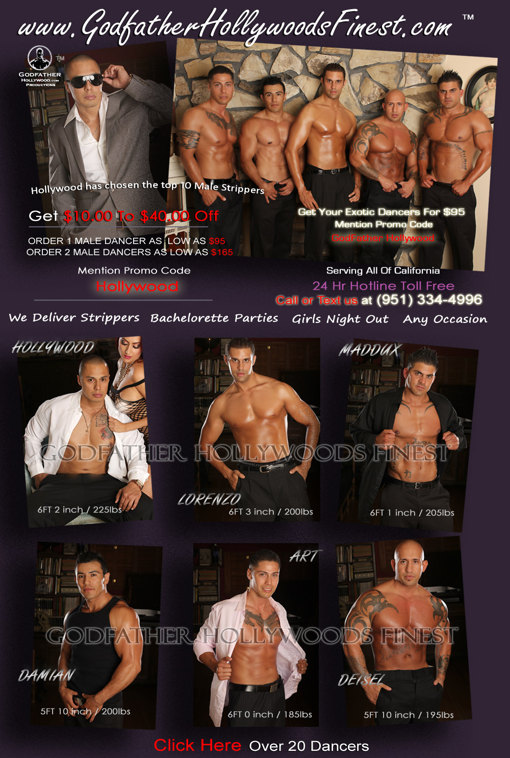 Latino male strippers interesting